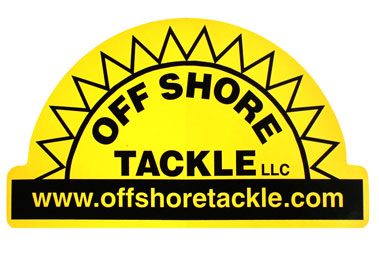 "Off Shore Tackle 5"" x 7"" Yellow Decal With Black Logo"