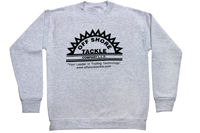 Off Shore Tackle Ash Long Sleeve Sweatshirt With Black Silkscreen Logo, 50/50 Blend
